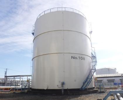 石油タンクの防錆塗装